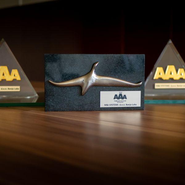 M&I Systems Banja Luka je od Bisnodea dobio AAA platinasti certifikat izvrsnosti